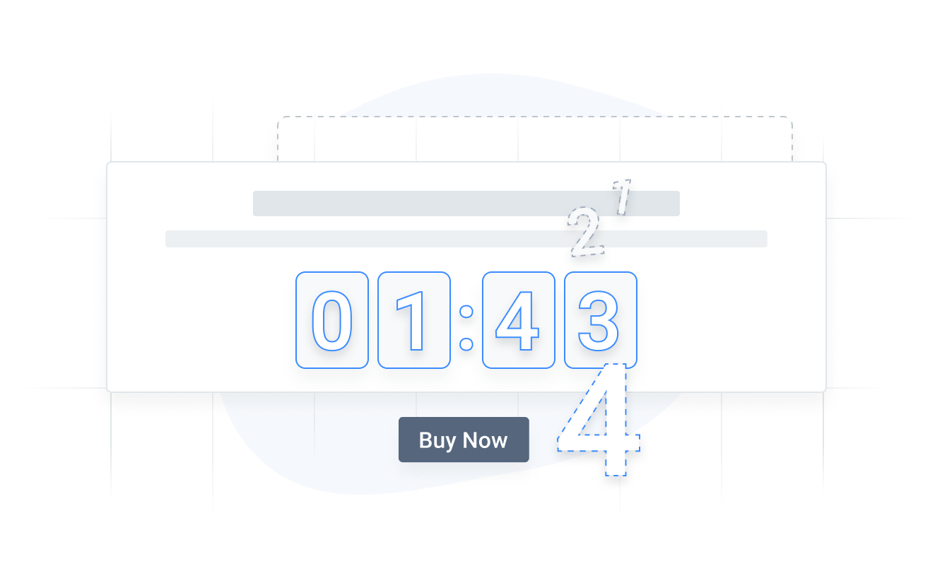 Countdown Timer by POWR with animation effects and a custom button.