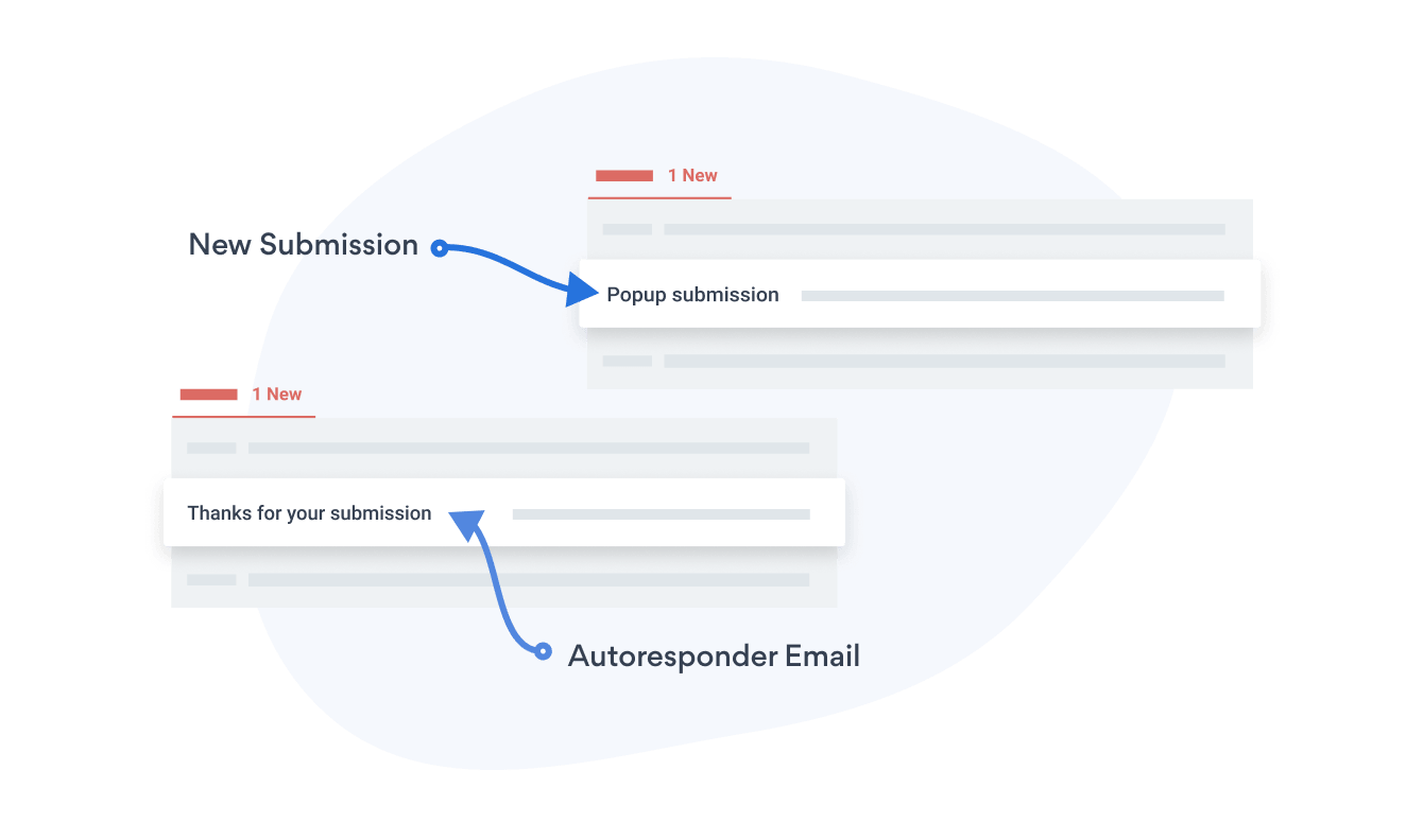 Email notifications for new purchases with POWR Popup and autoresponder emails for your new sign ups.