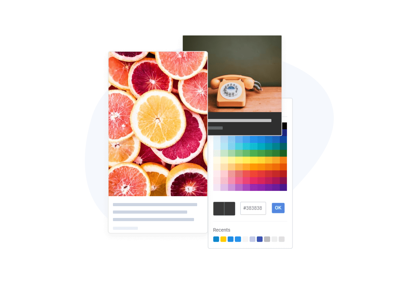 Social Feed by POWR with customization and hover effects.