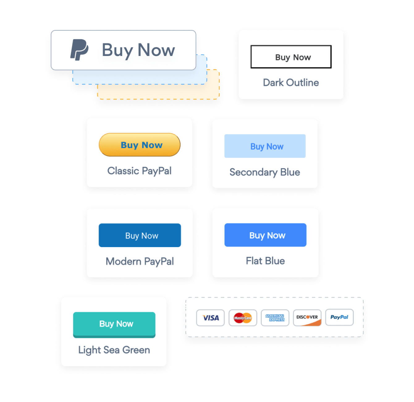 PayPal Button, Donation Button and Buy Now Buttons created with the POWR PayPal Button app.